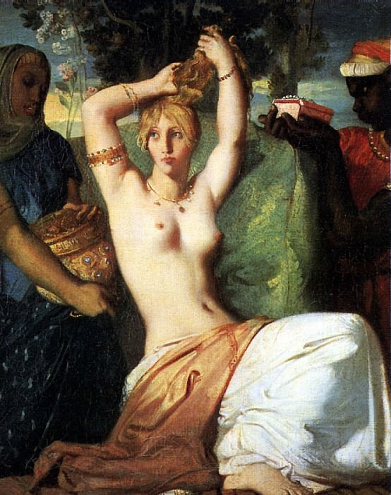 ШАССЕРИО ТЕОДОР - Туалет Эсфири, 1841.. Louvre (Paris)