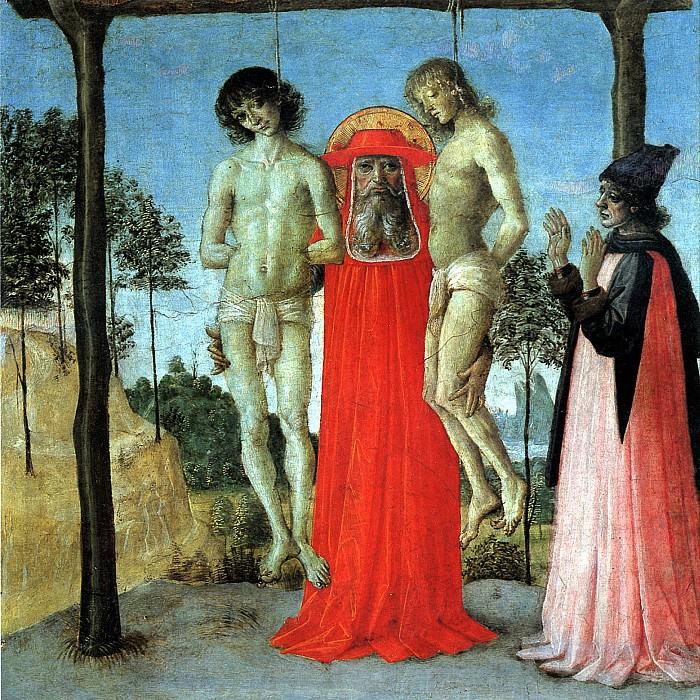 ПЕРУДЖИНО - Св. Иероним, поддерживающий двух казненных.. Louvre (Paris)