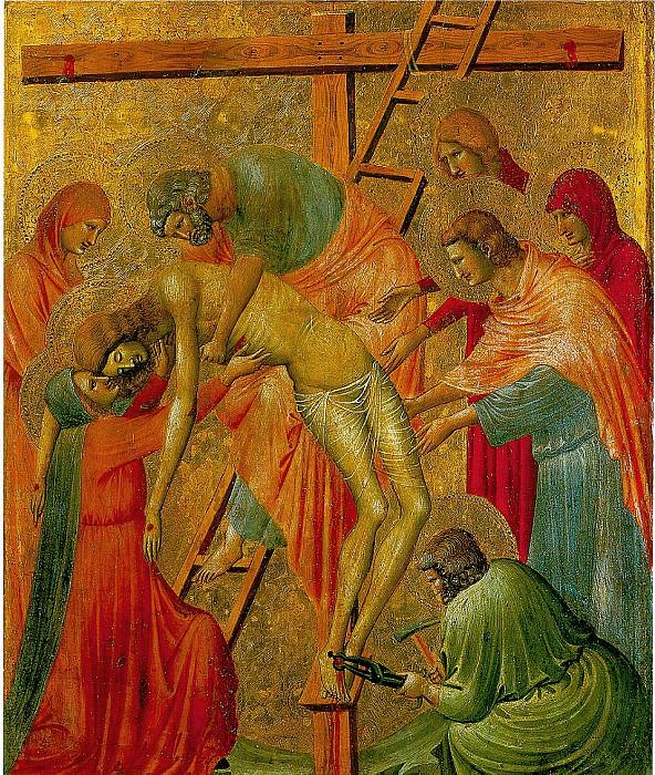 РИМИНИ ПЬЕТРО ДА - Снятие с креста, ок. 1330/40.. Лувр (Париж)