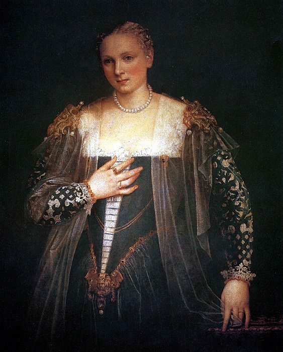 BEPOНЕЗЕ - Красавица Нани (Женский портрет).. Louvre (Paris)