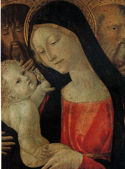 ЛАНДИ НЕРОЧЧЬО ДИ БАРТОЛОМЕО ДИ БЕНЕДЕТТО - Мадонна с младенцем и со святыми Иоанном Крестителем и Антонием.. Louvre (Paris)
