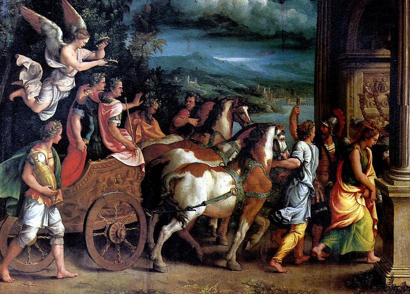 РОМАНО ДЖУЛИО - Триумф Тита и Веспасиана, ок. 1537.. Louvre (Paris)