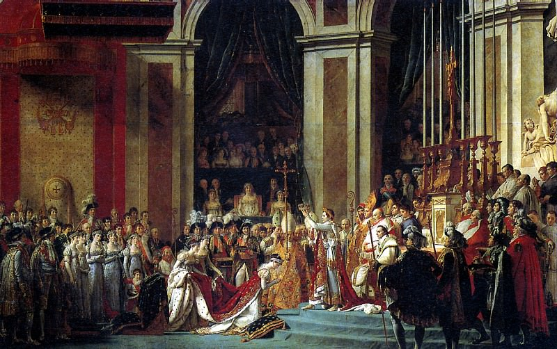 ДАВИД ЖАК ЛУИ - Посвящение Наполеона I в императоры. См. (MN). Louvre (Paris)