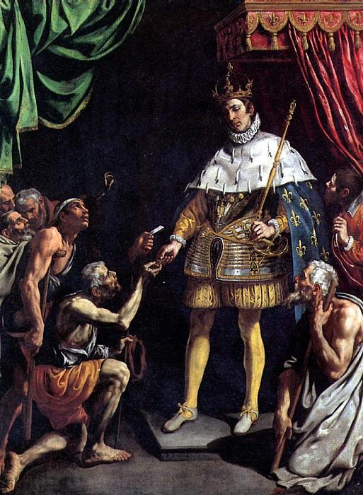 ТРИСТАН ЛУИС - Св. Людовик, король Франции, раздающий милостыню.. Louvre (Paris)
