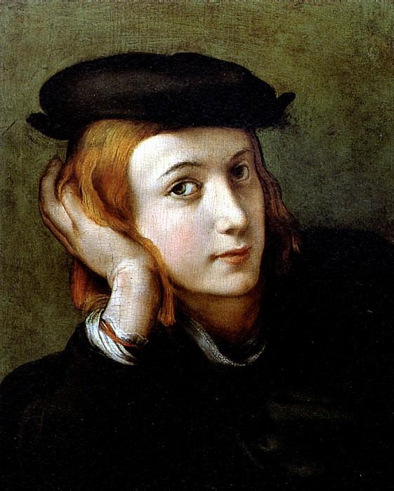 КОРРЕДЖО - Портрет молодого человека.. Louvre (Paris)