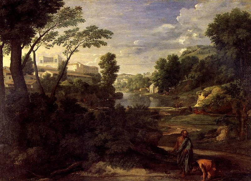 ПУССЕН НИКОЛА - Пейзаж с Диогеном, 1648.. Louvre (Paris)