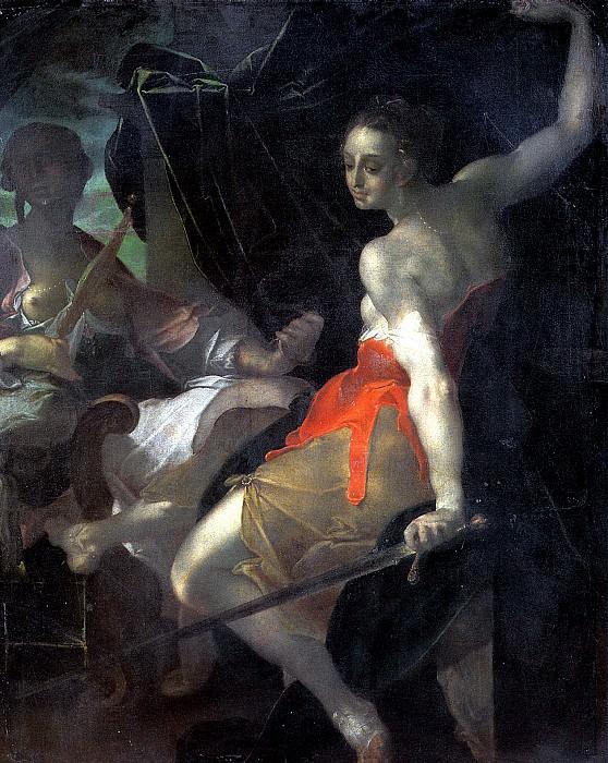 ШПРАНГЕР БАРТОЛОМЕУС - Аллегория Правосудия.. Louvre (Paris)