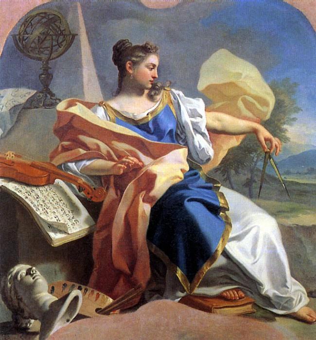 МУРА ФРАНЧЕСКО ДЕ - Аллегория искусств.. Louvre (Paris)