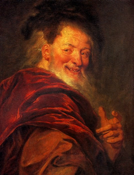 КУАПЕЛЬ АНТУАН - Демокрит, 1692.. Лувр (Париж)