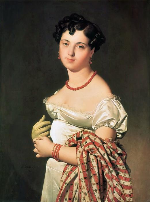 ЭНГР ЖАН ОГЮСТ ДОМИНИК - Мадам Панкук, 1811.. Louvre (Paris)