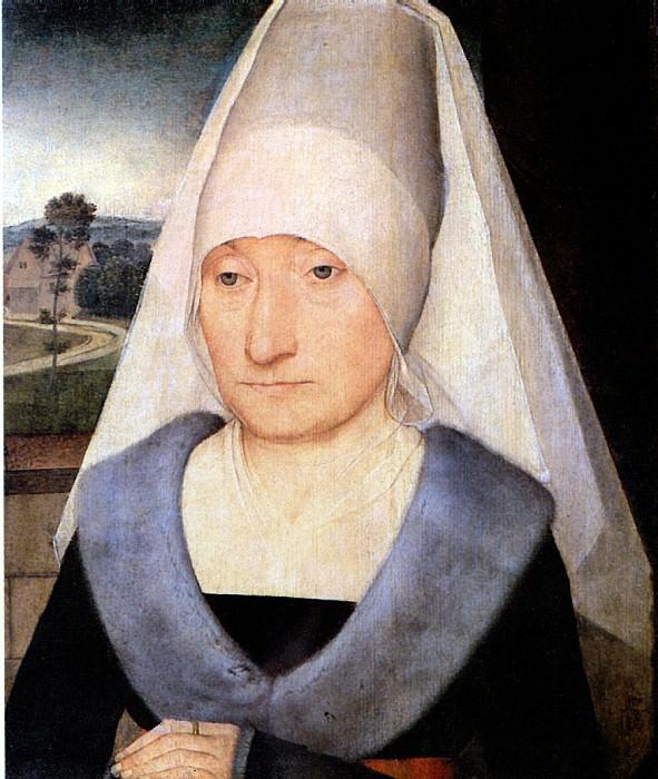 МЕМЛИНГ ХАНС - Портрет пожилой женщины.. Louvre (Paris)