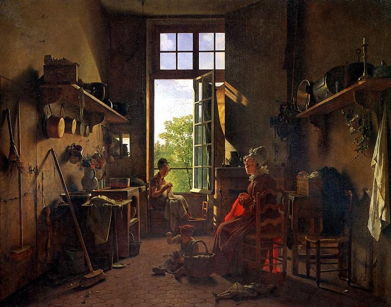 ДРОЛЛИНГ МАРТИН - Интерьер кухни, 1815.. Louvre (Paris)