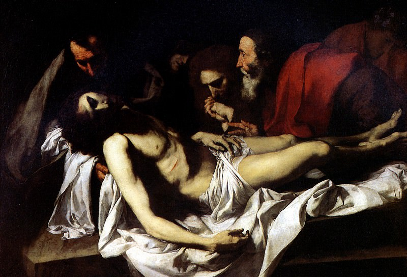 РИБЕРА ХУСЕПЕ ДЕ - Положение во гроб.. Louvre (Paris)