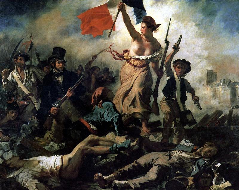 ДЕЛАКРУА ЭЖЕН - Свобода на баррикадах, 1830.. Louvre (Paris)