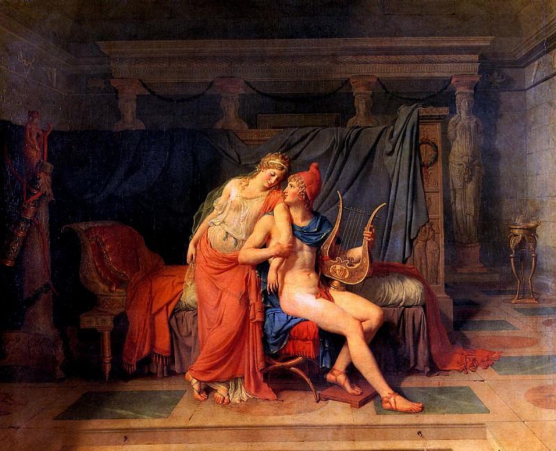 ДАВИД ЖАК ЛУИ - Любовь Париса и Елены, 1788.. Louvre (Paris)