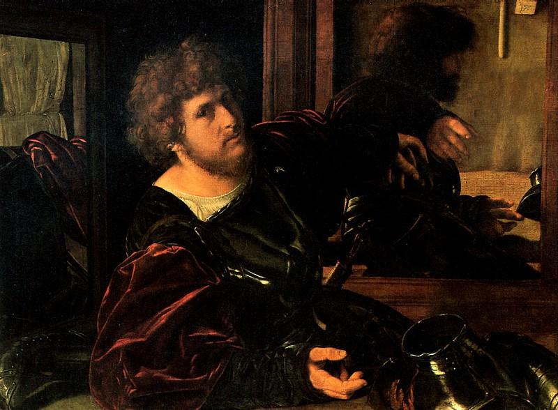 САВОЛЬДО ДЖОВАННИ ДЖИРОЛАМО - Портрет художника.. Louvre (Paris)