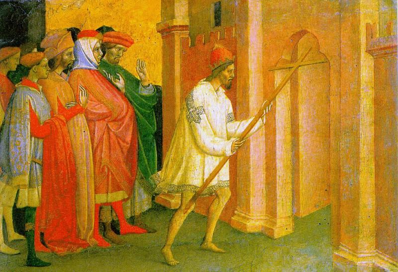 ЛАМБЕРТИНИ МИКЕЛЕ ДИ МАТТЕО - Император Ираклий несет крест в Иерусалим.. Louvre (Paris)