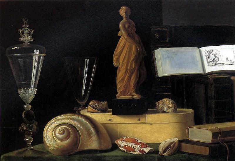 ШТОСКОПФ СЕБАСТЬЯН - Натюрморт со статуэткой и раковиной.. Louvre (Paris)