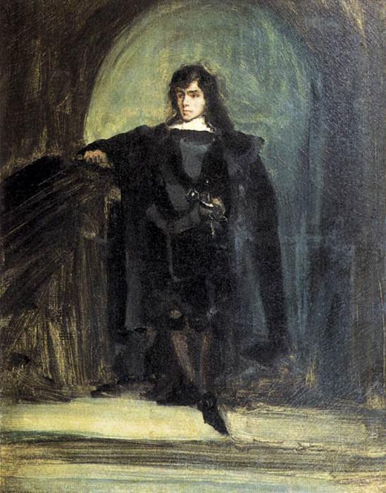 Self Portrait as Ravenswood. Ferdinand Victor Eugène Delacroix