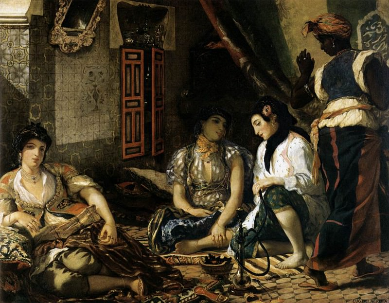 The Women of Algiers. Ferdinand Victor Eugène Delacroix