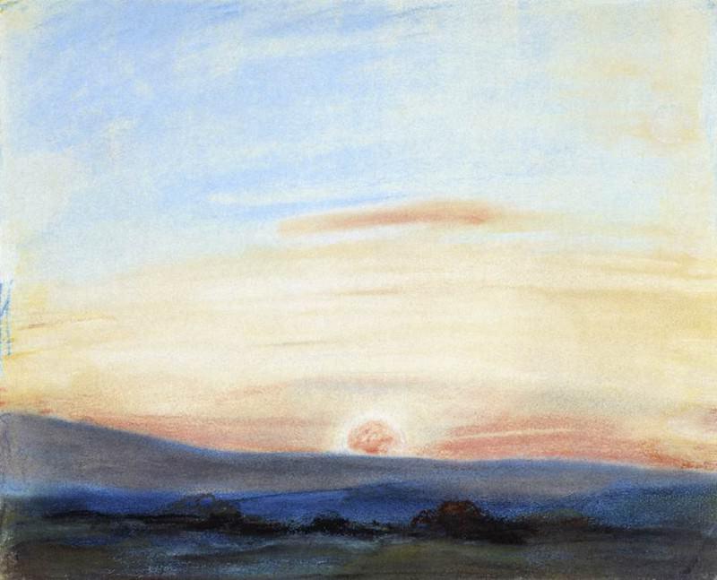 Study of Sky Setting. Ferdinand Victor Eugène Delacroix