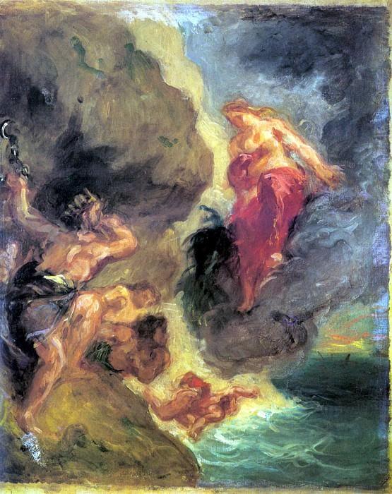 Winter Juno And Aeolus. Ferdinand Victor Eugène Delacroix