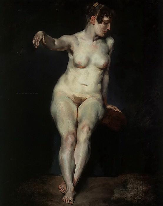 Seated Nude (Mademoiselle Rose). Ferdinand Victor Eugène Delacroix