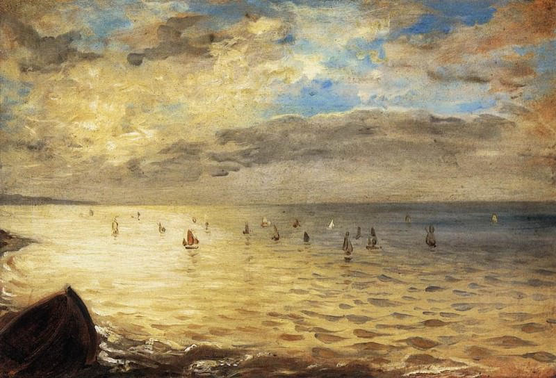The Sea from the Heights of Dieppe. Ferdinand Victor Eugène Delacroix