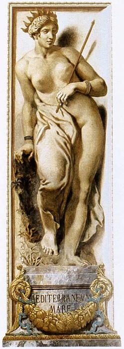 DELACROIX Eugene The Mediterranean. Ferdinand Victor Eugène Delacroix