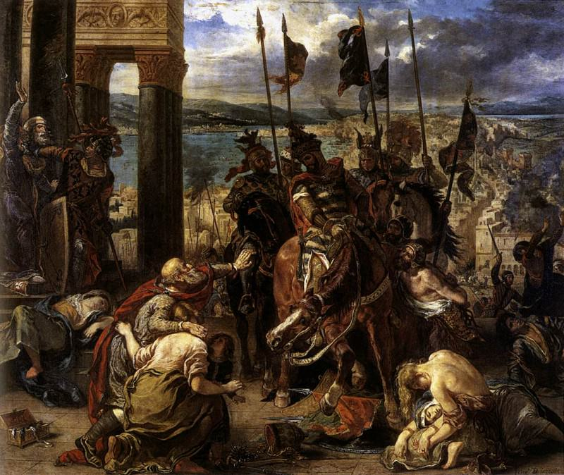 DELACROIX Eugene The Entry of the Crusaders into Constantinople. Ferdinand Victor Eugène Delacroix