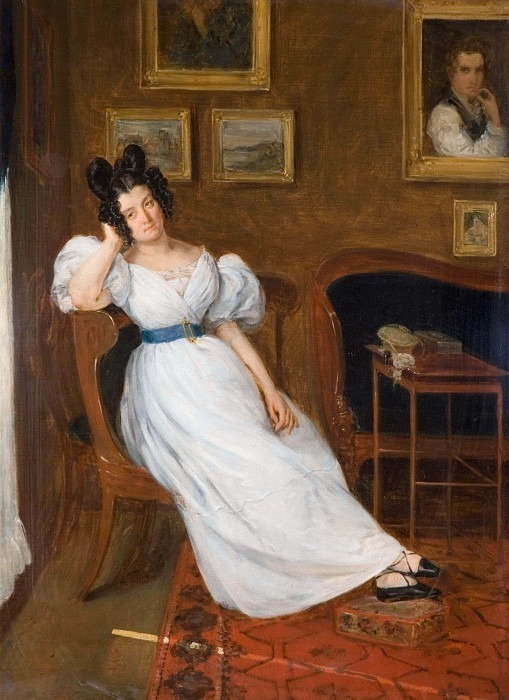 Portrait of Madame Simon. Ferdinand Victor Eugène Delacroix (Attributed)