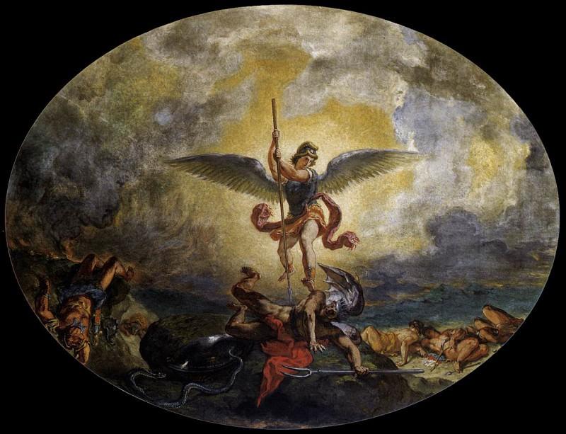 Святой Михаил побеждает дьявола. Эжен Делакруа