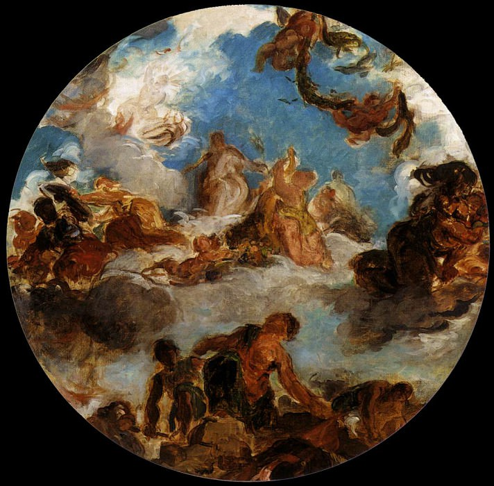 Sketch for Peace Descends to Earth. Ferdinand Victor Eugène Delacroix
