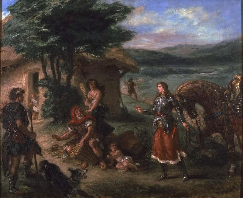 Erminia and the Shepherds. Ferdinand Victor Eugène Delacroix