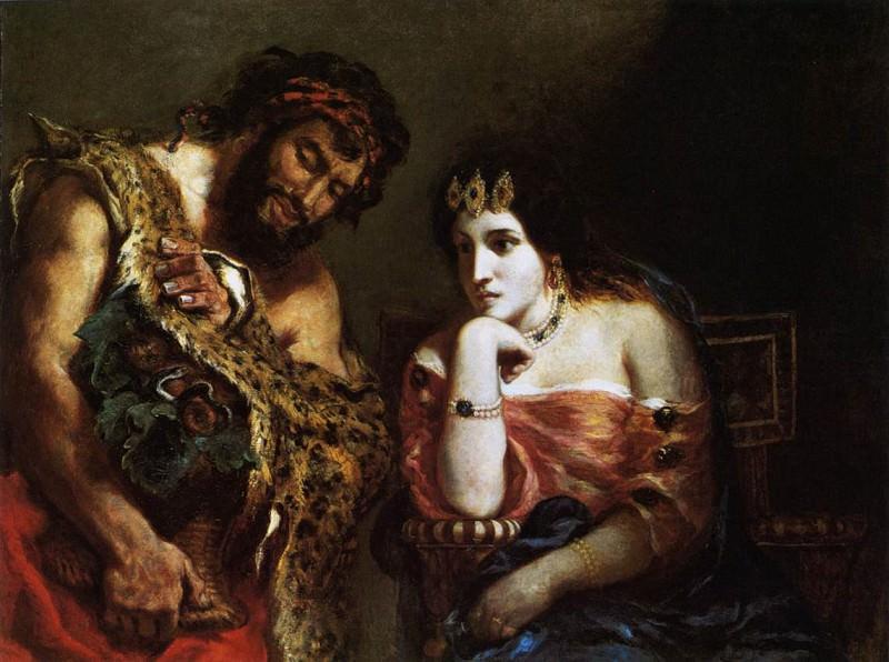 Клеопатра и Крестьянин. Эжен Делакруа