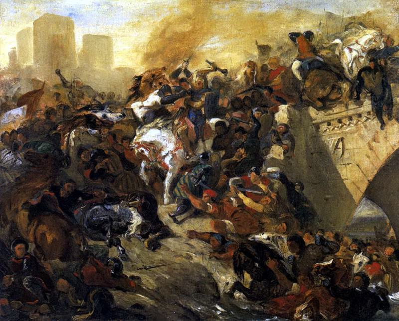 The Battle of Taillebourg draft. Ferdinand Victor Eugène Delacroix