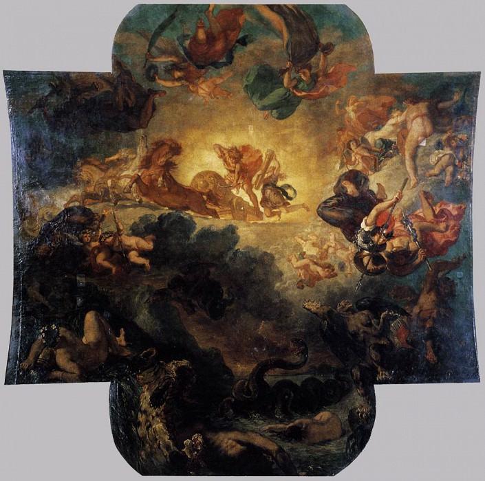 Apollo Vanquishing the Python. Ferdinand Victor Eugène Delacroix