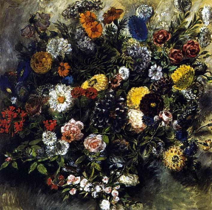 DELACROIX Eugene Bouquest of Flowers. Ferdinand Victor Eugène Delacroix