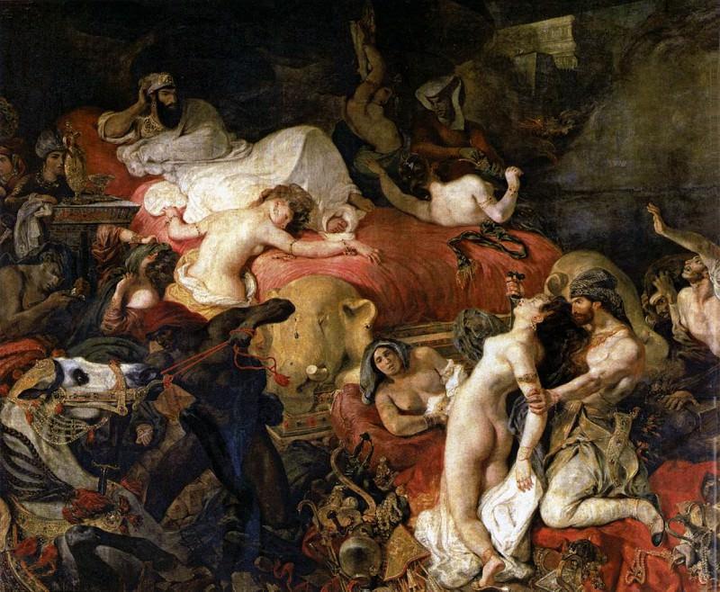 DELACROIX Eugene The Death of Sardanapalus. Ferdinand Victor Eugène Delacroix
