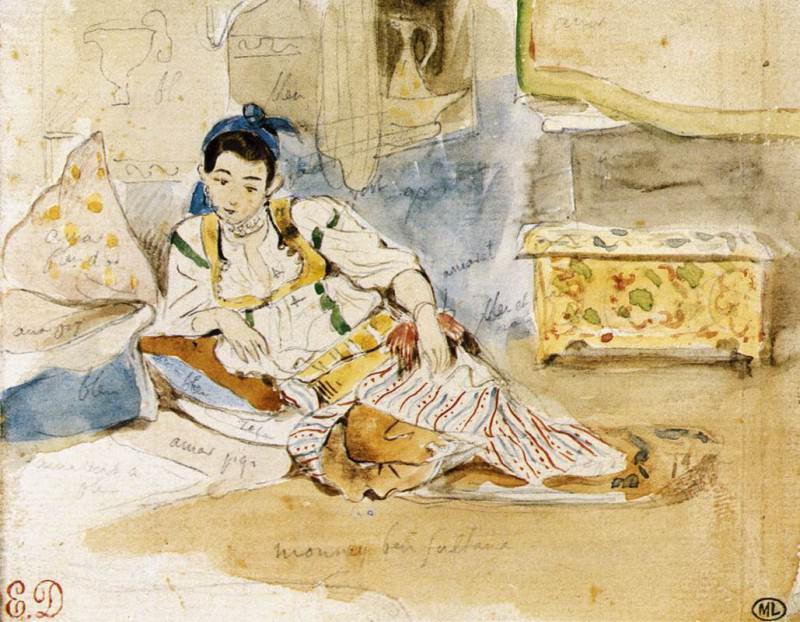 DELACROIX Eugene Mounay ben Sultan. Ferdinand Victor Eugène Delacroix