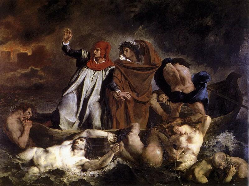 The Barque of Dante. Ferdinand Victor Eugène Delacroix