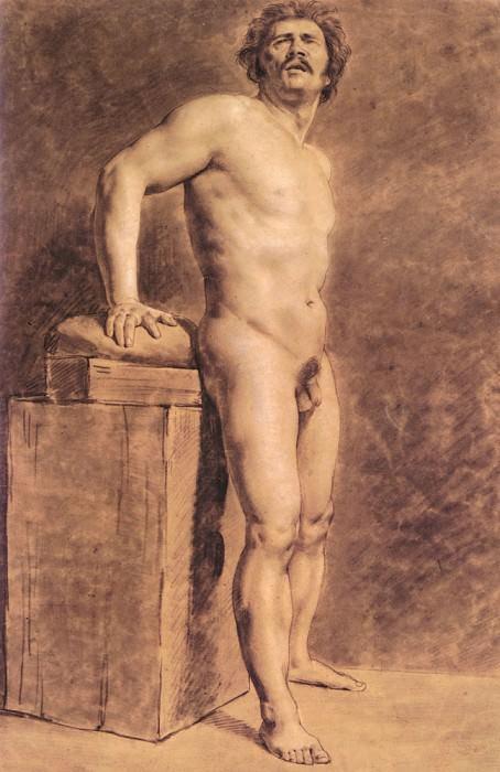 Male Academy Figure. Ferdinand Victor Eugène Delacroix