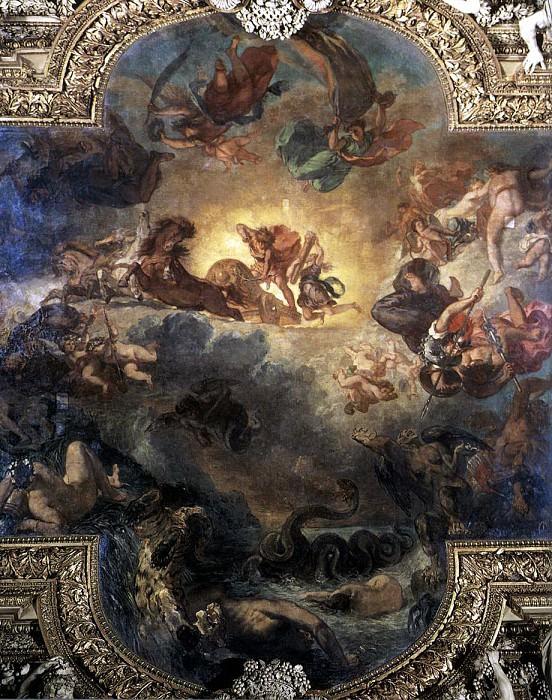 Apollo Slays Python. Ferdinand Victor Eugène Delacroix