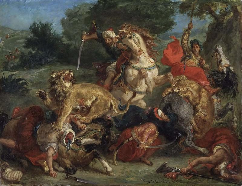 The Lion Hunt. Ferdinand Victor Eugène Delacroix