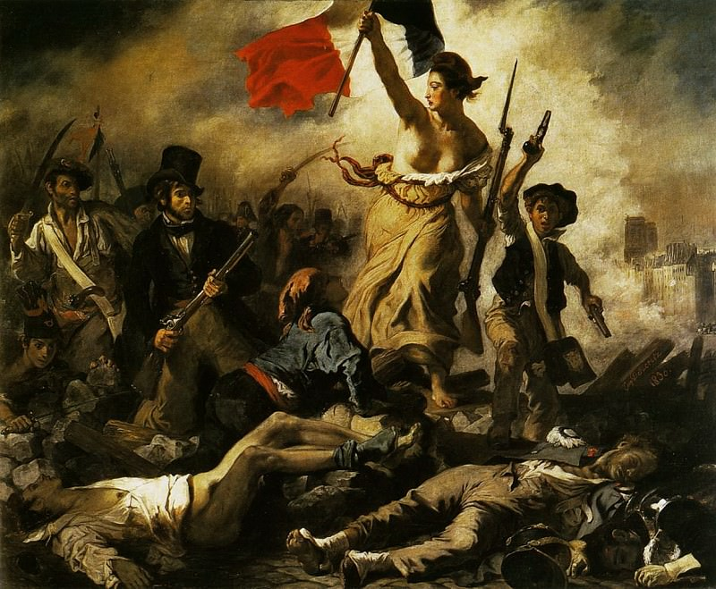 Liberty Leading the People 28th July 1830. Ferdinand Victor Eugène Delacroix