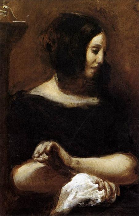 DELACROIX Eugene George Sand. Ferdinand Victor Eugène Delacroix