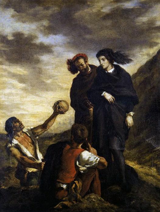 DELACROIX Eugene Hamlet and Horatio in the Graveyard. Ferdinand Victor Eugène Delacroix