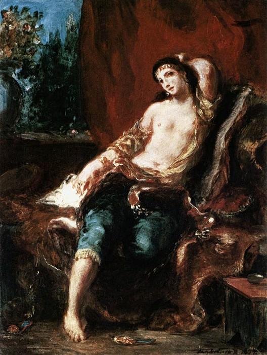 DELACROIX Eugene Odalisque. Ferdinand Victor Eugène Delacroix