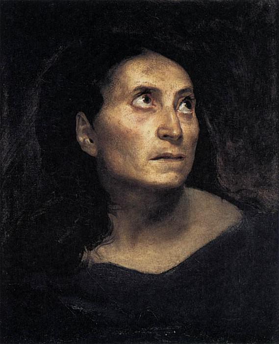 DELACROIX Eugene A Mad Woman. Ferdinand Victor Eugène Delacroix