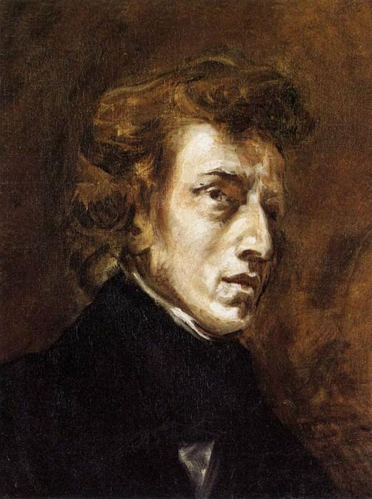DELACROIX Eugene Frederic Chopin. Ferdinand Victor Eugène Delacroix